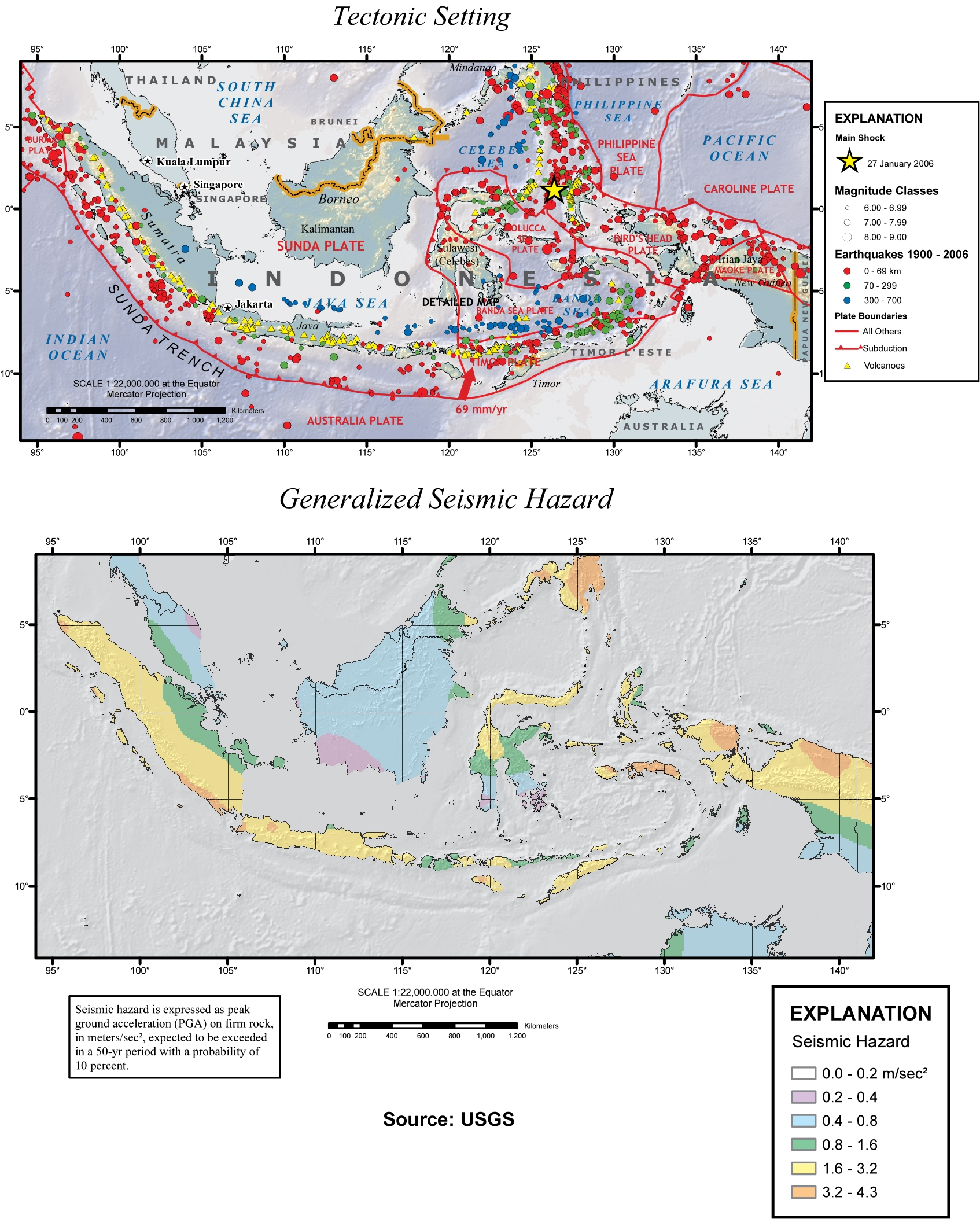 Earthquake geology of southeast asia scientific malaysian figure 1 the tectonic setting upper panel and generalized seismic hazard lower panel of malaysia and its surrounding areas gumiabroncs Choice Image