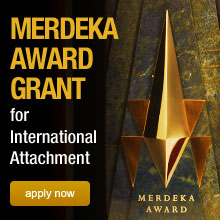 Grant: Merdeka Award Grant for International Attachment 2013