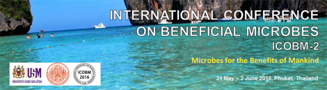 Conference: International Conference on Beneficial Microbes 2016 (ICOBM-2), Thailand